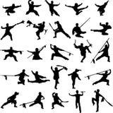 Fu do kung de China ilustração stock