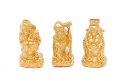 Fu Lu Shou, Chinese Lucky God Graven Image. Royalty Free Stock Photos