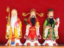 Fu Lu Shou god statue Royalty Free Stock Photography