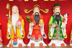 Fu Lu Shou (Hok Lok Siu) staty royaltyfria bilder