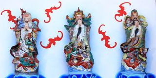 Fu Lu Shou Lucky Gods Stock Images