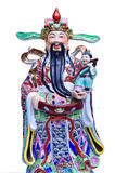 Fu Lu Shou statues in Chinese Shrine stock images