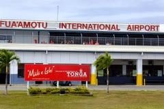 Fua`amotu International Airport on Tongatapu island in Tonga Stock Photo