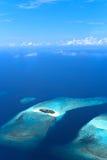 Fuahi Fafu and Huraagando sand bank in Noonu atoll Stock Photography
