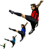 Fußball-Ballett Lizenzfreies Stockbild