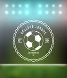Fußball-Fußball-Typografie-Ausweis-Gestaltungselement Stockfotografie