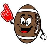Fußball-Maskottchen mit dem Schaum-Finger Stockfotografie
