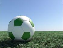 Fußball mit Gras Lizenzfreie Stockfotografie