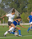 Fußball nimmt ein Knie Lizenzfreie Stockfotos