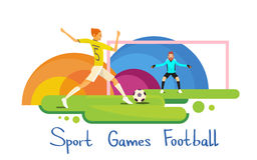 Fußball-Spieler-Athleten-Sport Competition Colorful-Fahne Lizenzfreies Stockbild
