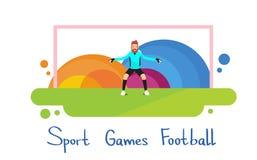 Fußball-Spieler-Athleten-Sport Competition Colorful-Fahne Stockfotografie