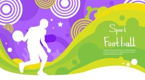 Fußball-Spieler-Athleten-Sport Competition Colorful-Fahne Stockbild