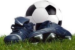 Fußball und Matten Lizenzfreies Stockfoto