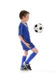 Fußballbewegungen Lizenzfreie Stockbilder