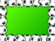 Fußballkugel-Feldschablonenauslegung Stockfotografie