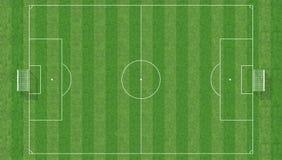 Fußballplatz von der Draufsicht Stockfoto