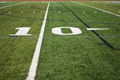 Fußballplatzzeilen Stockfoto