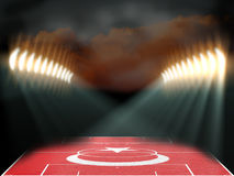 Fußballstadion mit Türkei-Flagge Texturfeld Lizenzfreie Stockfotografie