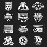 Fußballzeichen-Vektorsatz Lizenzfreie Stockfotografie