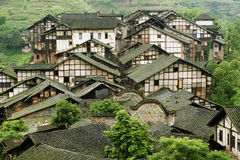 Fubao folk house28. Traditional folk house of people live in Fubao village in Sichuan province of China Royalty Free Stock Photography
