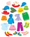 Fußbekleidung und Kleidung Lizenzfreie Stockfotos