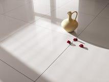 Fußbodenfliese-Porzellanfliesen Stockfotografie