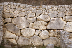 Fucens Alba - la pared Imagenes de archivo