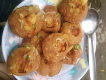 Fuchka. One of Bangladeshi famous cake Stock Photo