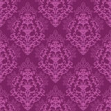 флористические fuchsia пурпуровые безшовные обои Стоковая Фотография