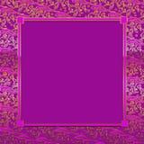 Fuchsia/Gold Decorative Background Stock Photo