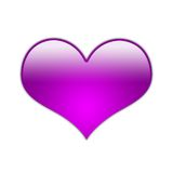 Fuchsia Gradient Heart Design Royalty Free Stock Photo