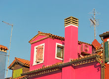 Fuchsia house Royalty Free Stock Photos