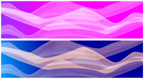 Fuchsia Pink Azure Banners Stock Photo