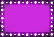 Fuchsia Pink Back stage Light Mirror Background Frame. Stock Photography