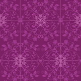 Fuchsia and pink floral wallpaper Royalty Free Stock Images