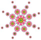 Fuchsia snow flower. Pattern - illustration Royalty Free Stock Images