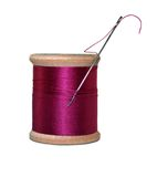 Fuchsia thread Stock Photo