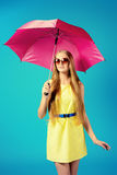 Fuchsia umbrella Stock Photo
