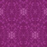Fuchsiakleurig en roze bloemenbehang Royalty-vrije Stock Afbeeldingen