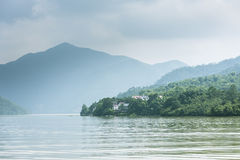 The Fuchun River Three Small Gorges scenery royalty free stock photo