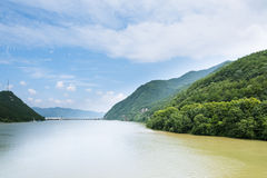 The Fuchun River Three Small Gorges scenery stock images