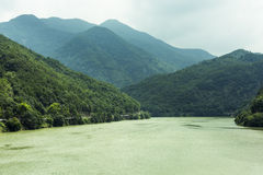 The Fuchun River Three Small Gorges scenery Stock Photography