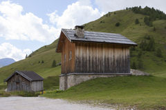 Fuciade, Soraga, Trentino Alto Adige (Dolomites) - Tyrolean chal Stock Image