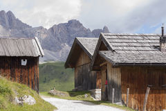 Fuciade, Soraga, Trentino Alto Adige (Dolomites) - Tyrolean chal Royalty Free Stock Image