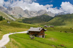Fuciade Valley in the Dolomites Royalty Free Stock Photo