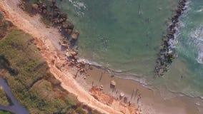 Fucilazione aerea del litorale video d archivio