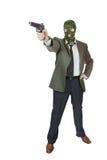 Fucilazione del gangster con una pistola Fotografie Stock Libere da Diritti