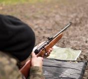Fucilazione del soldato da una mitragliatrice Immagine Stock Libera da Diritti
