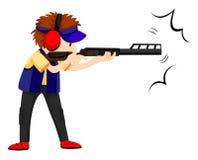 Fucilazione dell'atleta dell'uomo con la pistola del fucile royalty illustrazione gratis