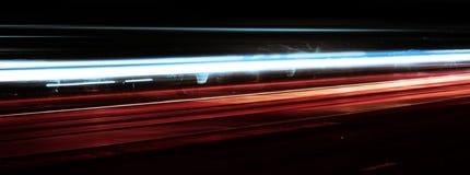 Fucilazione di notte e di velocità Fotografie Stock